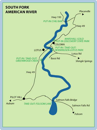 Logistics for the South Fork American River