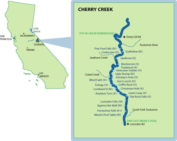 Cherry Creek River Map