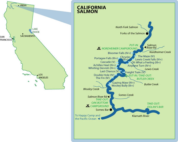 California Salmon Mile-by-Mile Map