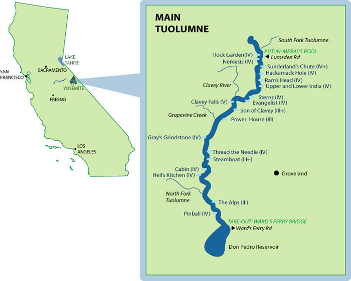 Tuolumne River Mile-by-Mile Map