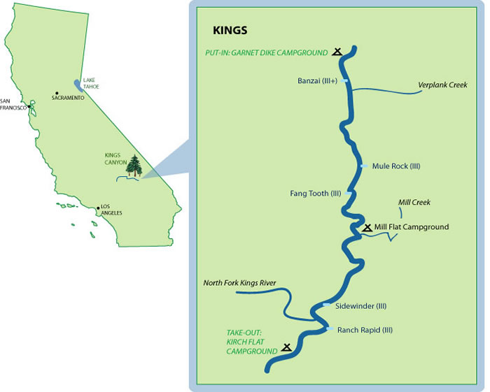 Kings River MileByMile Map