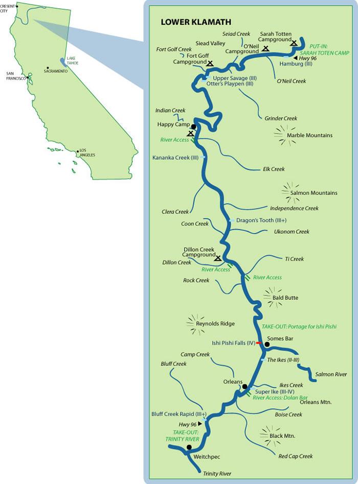 Lower Klamath Mile-By-Mile Map on klamath basin map, six rivers national forest map, oregon rivers map, smith river, trinity river, klamath falls, klamath national forest map, humboldt county map, southern oregon northern california map, klamath lake map, columbia river, crescent city, redwood national and state parks map, trinity county map, klamath mountains, lake of the woods map, lake ewauna, sacramento river, trinity lake map, klamath county, klamath mountains map, umpqua river, prairie creek redwoods state park map, lost river, lower klamath national wildlife refuge map, roosevelt national forest trail map, trinity county, sandy river, humboldt county, happy camp, morgan hill map, klamath county map, eel river, rogue river, highland map, klamath marsh map, curry county,